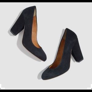 Madewell women's black The Frankie pump suede